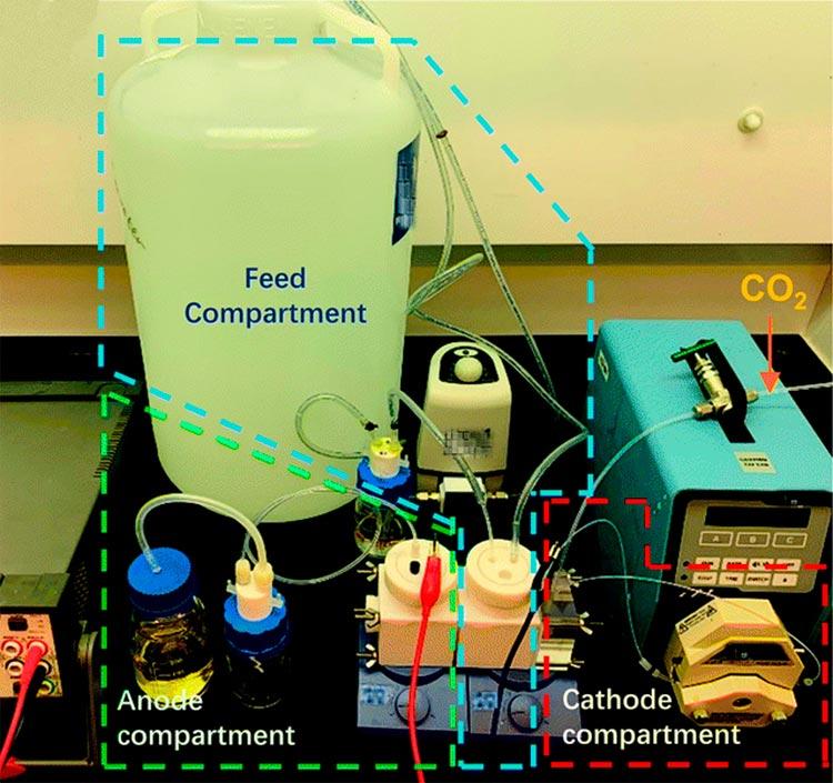 Imagen que muestra la configuración de enriquecimiento para extraer litio del agua de mar