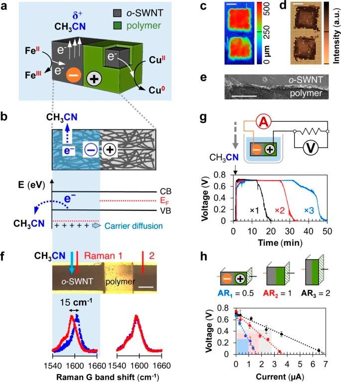 Una partícula capaz de inducir potenciales eléctricos desde el interior de un disolvente