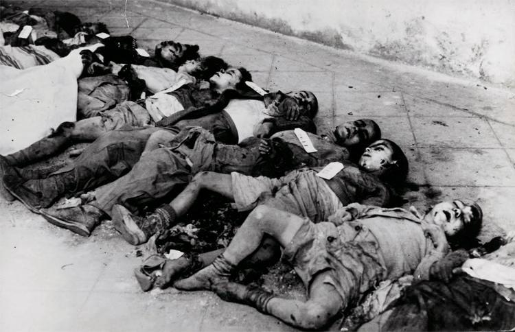 Guerra Civil Española: niños muertos en el bombardeo franquista de Lleida (1937)