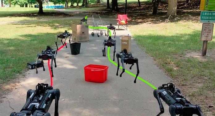 AlienGo: Nuevo robot que puede navegar de manera eficiente por las aceras en entornos urbanos