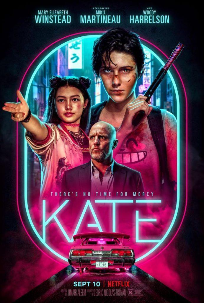 Cartel promocional de Kate (2021) de Netflix.