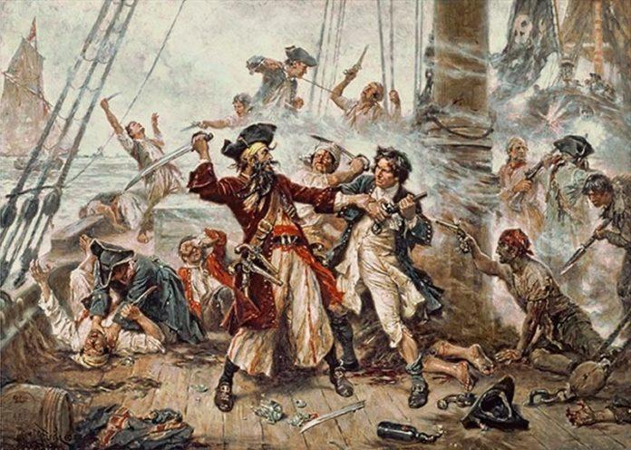 Piratas. Barbanegra lucha contra el teniente Maynard en el apogeo de la Edad de Oro de la piratería