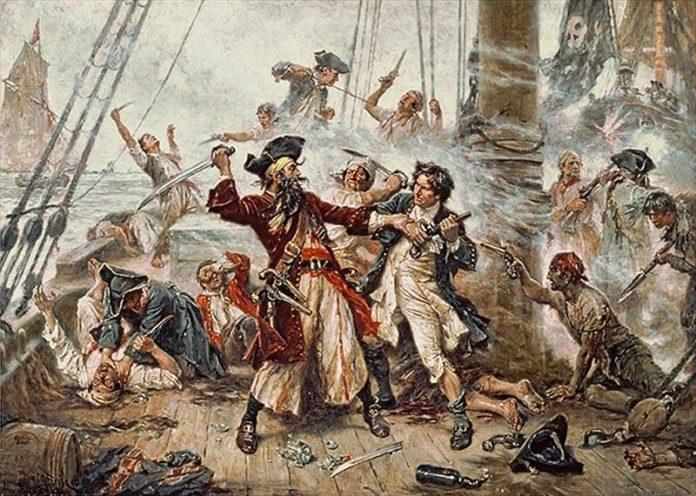 Piratas: Barbanegra lucha contra el teniente Maynard en el apogeo de la Edad de Oro de la piratería